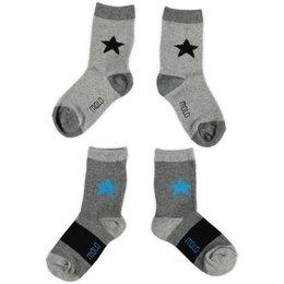 Molo twee paar sokken Flint grey