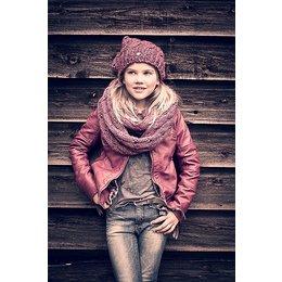Petrol Industries girls beanie muts dark pink met glittertje