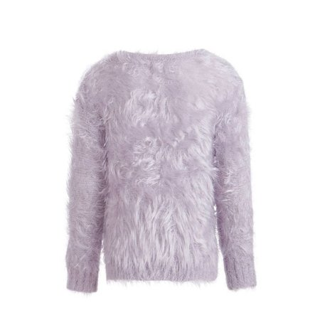 Little Pieces superzachte fluffy trui soft lila