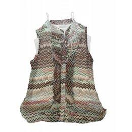 O'Chill mouwloze blouse met topje Missoni stijl