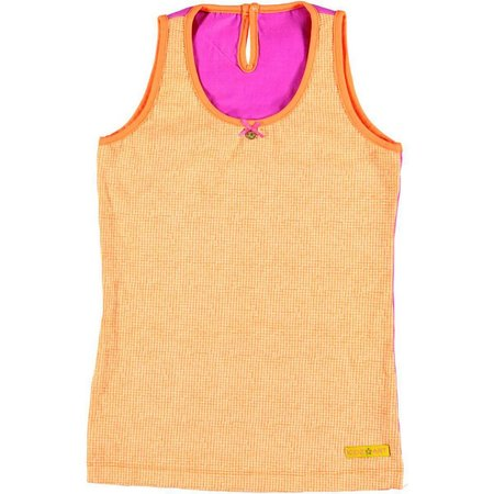 Kidz-Art superstretch top Orange dots