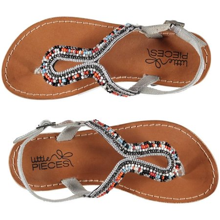 Little Pieces lederen sandalen Ibiza  multicolor kraaltjes
