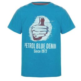 "Petrol Industries shirt ""Like"" blue"