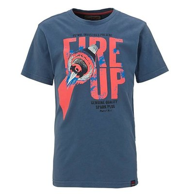 Petrol Industries shirt Fire Up blue