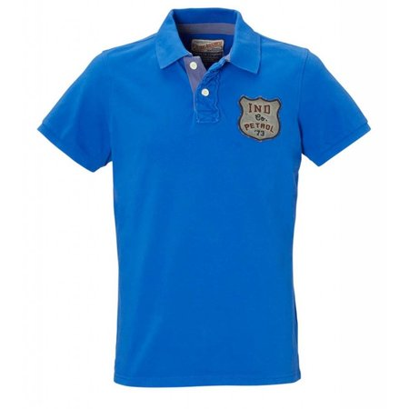 Petrol Industries polo shirt kobalt blauw