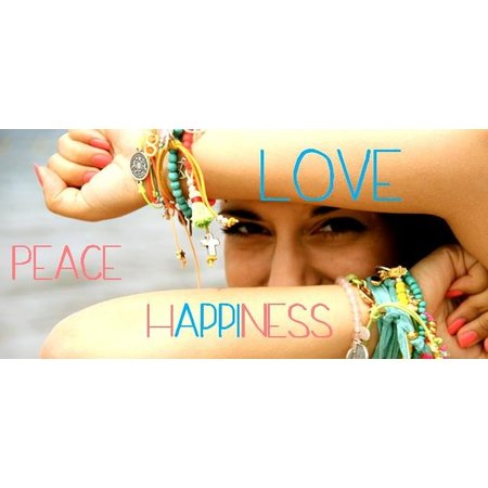LOVE IBIZA armband Peace & Love