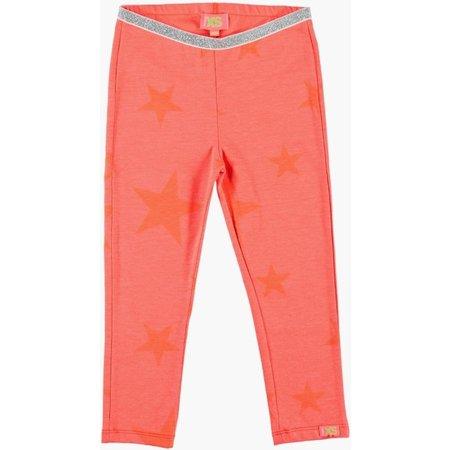 Funky XS legging met sterren fluo  coral