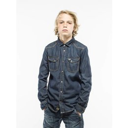Petrol Industries jeans overhemd dark blue