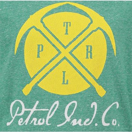 Petrol Industries superzachte longsleeve met dubbelprint fresh green