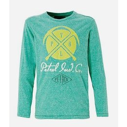 Petrol Industries superzachte longsleeve met dubbelprint fresh green