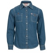 Petrol Industries girls jeans blouse vintage denim stars