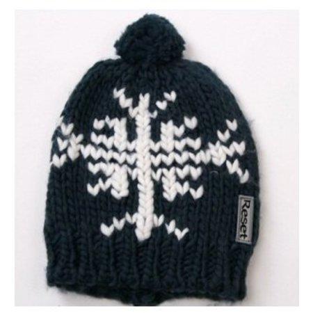 Reset lange zachte warme sjaal navy blue