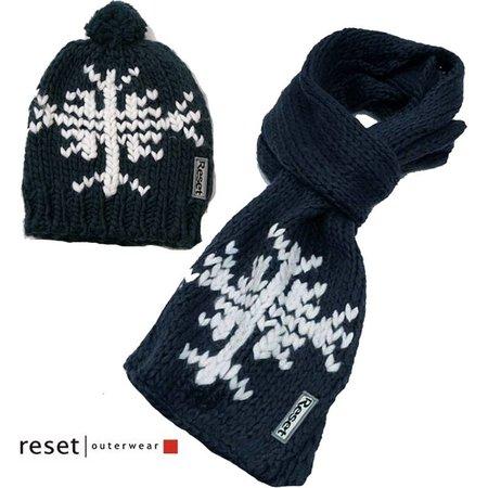 Reset set muts en sjaal snowflake blue