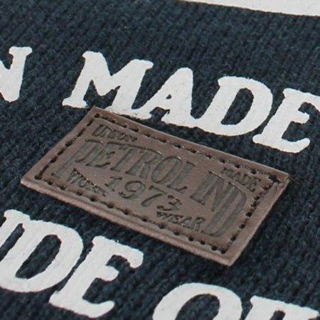 Petrol Industries sjaal navy blue white print
