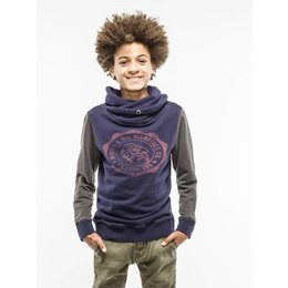 Petrol Industries sweater twisted hood navy