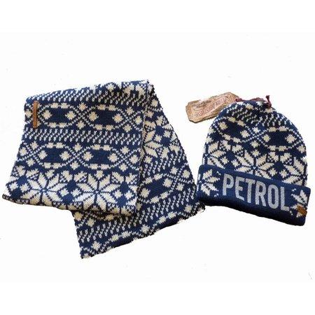 Petrol Industries set muts en sjaal blue noorse print