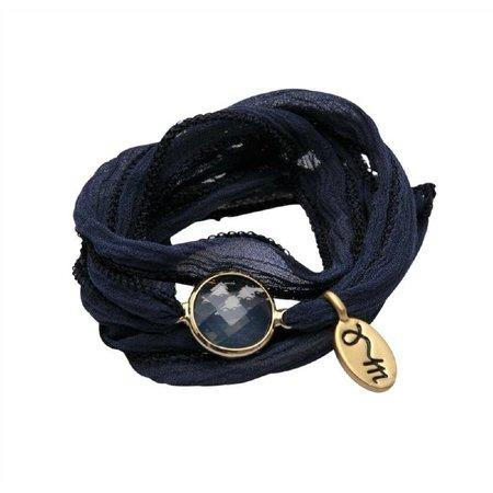 Jozemiek Rakhi Namasté wikkelarmband Majorelle blue