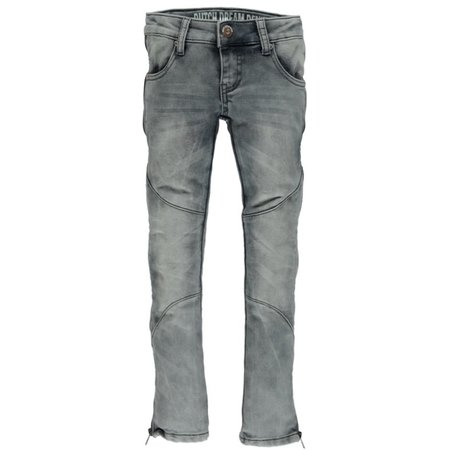 Dutch Dream Denim meisjes joggjeans met lange rits Nyati grey