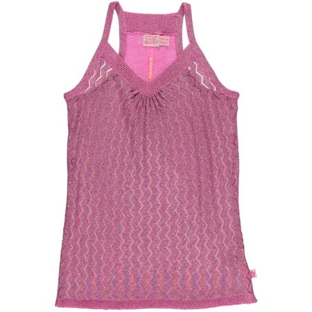 Kidz-Art ajour topje knitted purple pink