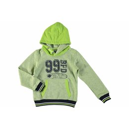 Bampidano boys hooded sweatshirt lime grey