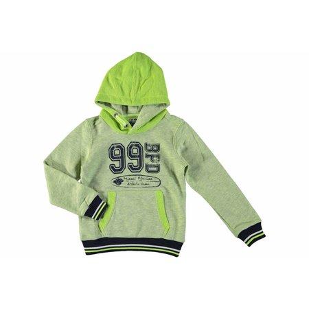 Bampidano boys hooded sweatshirt lime grey