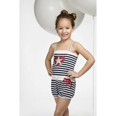Bampidano jumpsuit marine stripes love hart