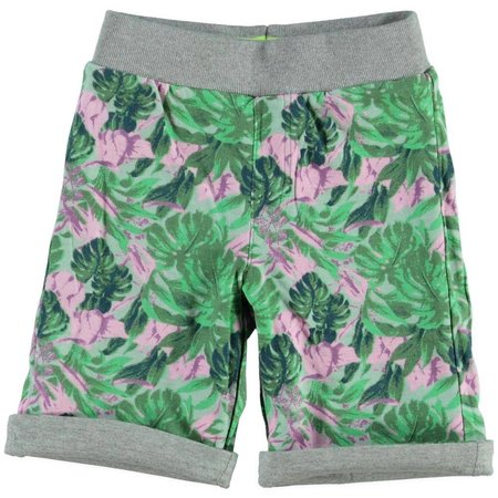 Bampidano boys reversible sweat short grey-jungle