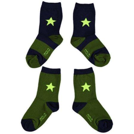 Molo twee paar sokken Nitis retro army