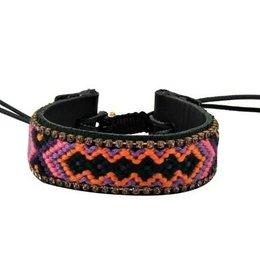 Jozemiek IBIZA leather bracelet orange