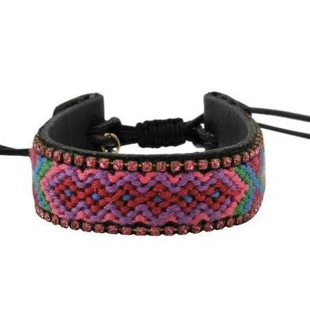 Jozemiek IBIZA leather bracelet pink