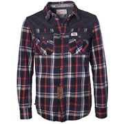 Petrol Industries flanel overhemd blue check geruit