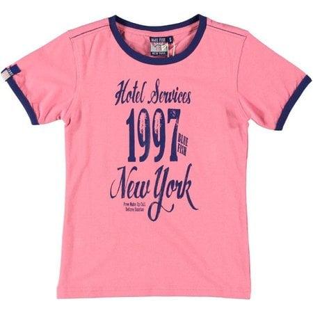 Blue Fish shirt Pink Lemonade