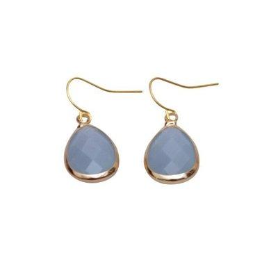 Jozemiek damesoorbellen tear drops opaal blue
