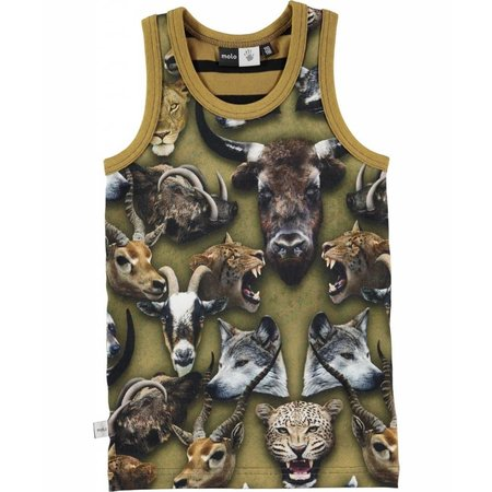 Molo singlet Jim Animal heads- dierenkoppen