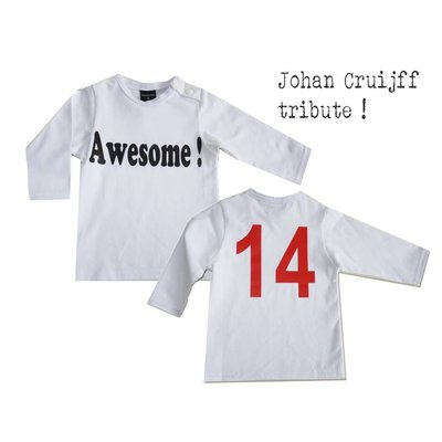 Roos & Tijn Design Awesome ! Johan Cruijff nr 14 shirt