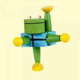 houten kikker acrobaatje