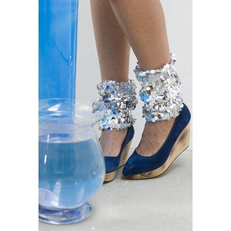 Bonnie Doon pailletten legwarmers ZWART