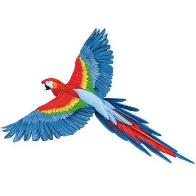 StickerkidS muursticker papagaai