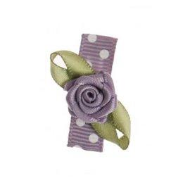 haarknipje baby pokkadot grijs met roosje