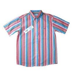 Lacoste overhemd korte mouw mulitcolor stripe