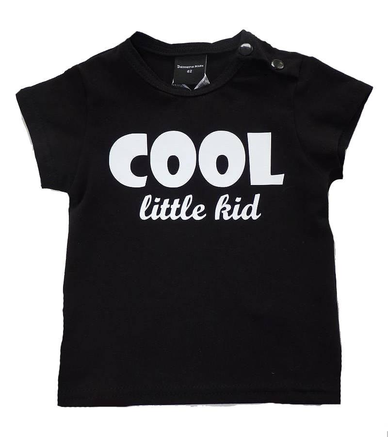 Roos & Tijn Design shirt Cool Little Kid black - Roos & Tijn Designerstore