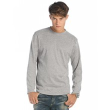 B&C Collection T-Shirt Exact 190 Long Sleeve Sport grijs