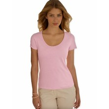 Fruit of the Loom Lady-Fit Lightweight-T Roze