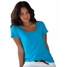 Anvil Ladies Sheer Scoop Crew Neck Caribisch blauw