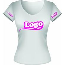 T-shirt vrouwen borst en armen logo