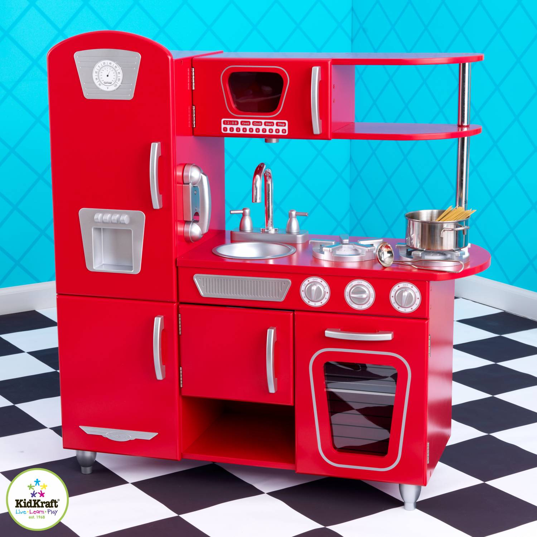 Kidkraft Keuken Vintage : Kidkraft Red retro keuken – babee.nl