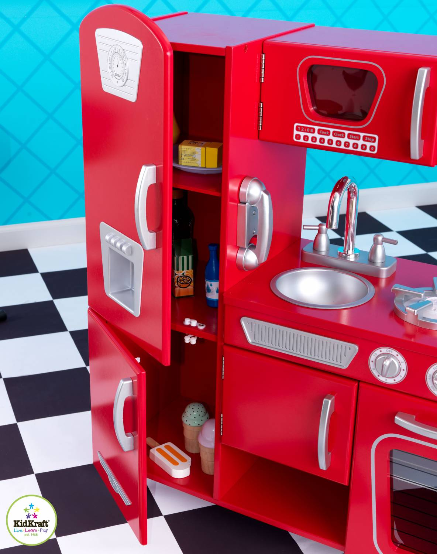 Vintage Keuken Kidkraft : Kidkraft Red retro keuken – babee.nl