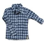 JIL & SIL kinderkleding blouse Janiek blauw/wit ruit