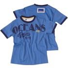 BLUE SEVEN KIDS kinderkleding 80323X blauw t-shirt