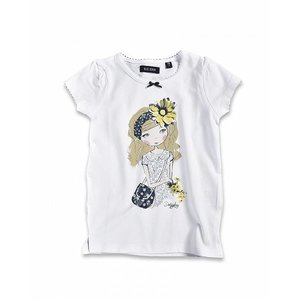 BLUE SEVEN KIDS T SHIRT MADELIEF WIT